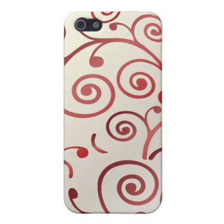 PixDezines Cupcake Swirls, red+faux pearl iPhone 5/5S Case