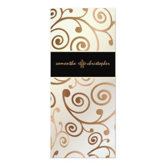 PixDezines Cupcakes Swirls / copper / gold Card