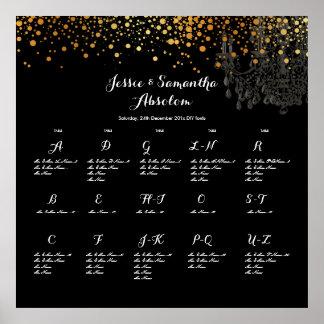 PixDezines dazzled/gold specks/winter soiree Poster