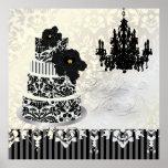 PixDezines desiree damask cake+chandelier