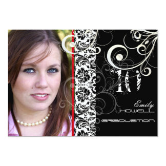 PixDezines DESIREE DAMASK+SWIRLS, GRADUATION Card