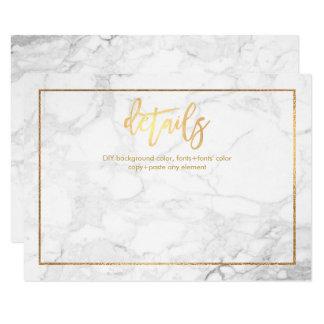 PixDezines DETAILS CARDS/MARBLE+FAUX GOLD Card