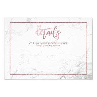 PixDezines DETAILS CARDS/MARBLE+FAUX ROSE GOLD Card