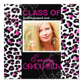 PixDezines diy 2012 graduation, cheetah 13 Cm X 13 Cm Square Invitation Card