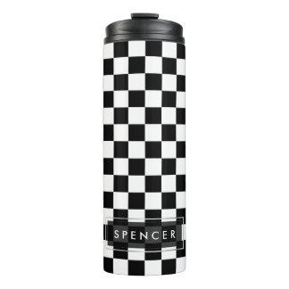 PixDezines DIY Background/Checkered Thermal Tumbler