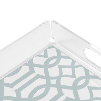 PixDezines DIY color adjustable/indochine trellis Acrylic Tray