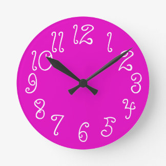 PixDezines DIY color/font/hot pink Clock