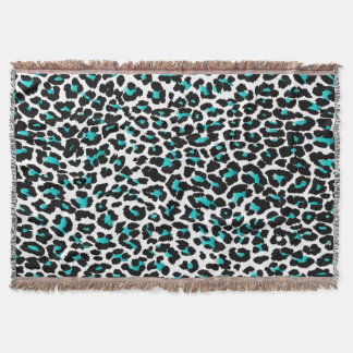 PixDezines DIY color/leopard print Throw Blanket