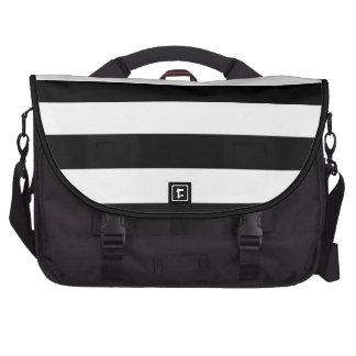 PixDezines diy color stripes b+w Commuter Bags