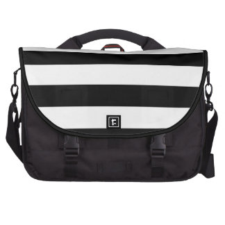 PixDezines diy color stripes b+w Bag For Laptop