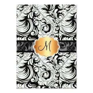 PixDezines DIY color/vintage plume damask Card