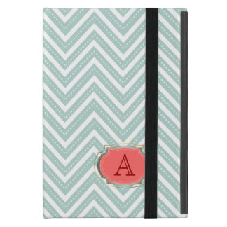 PixDezines diy color/white chevron+monogram Case For iPad Mini