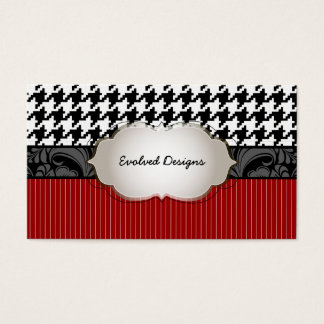 PixDezines DIY colors/houndstooth pattern Business Card