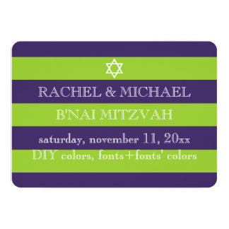PixDezines DIY colors/stripes bnai mitzvah Card