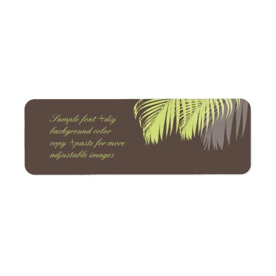 PixDezines DIY colour! green palm fronds Return Address Label