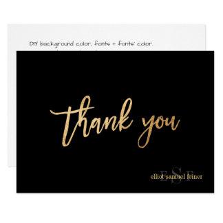 PixDezines DIY Colour/Monogram Thank You/flat Card