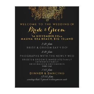 PixDezines faux gold chandelier wedding program Gallery Wrapped Canvas