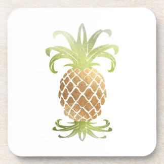 PixDezines Faux Gold Pineapple/DIY background Coaster