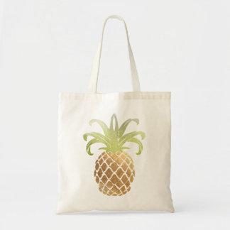 PixDezines Faux Gold Pineapple Tote Bag