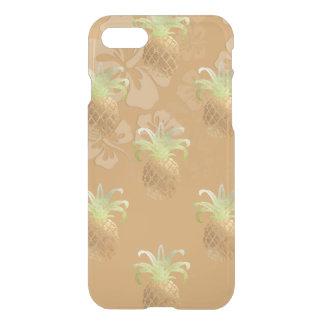 PixDezines Faux Gold Pineapples/Hibiscus iPhone 7 Case