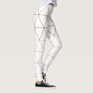 PixDezines Faux Rose Gold Geometric/Triangles Leggings