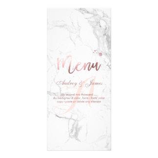 PixDezines Faux Rose Gold/Marble/Menu Custom Rack Card