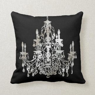 PixDezines faux silver/chandeliers/DIY background Cushion