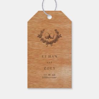 PixDezines Faux Wood/Acorns Gift Tags