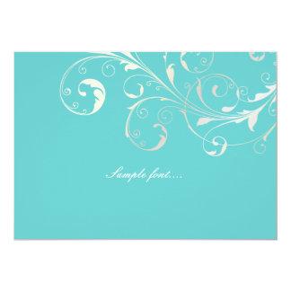 PixDezines filigree swirls/diy background color 13 Cm X 18 Cm Invitation Card