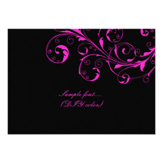 PixDezines filigree swirls/diy background color Custom Invitations