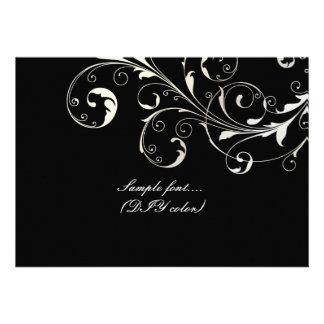 PixDezines filigree swirls/diy background color Personalized Invite