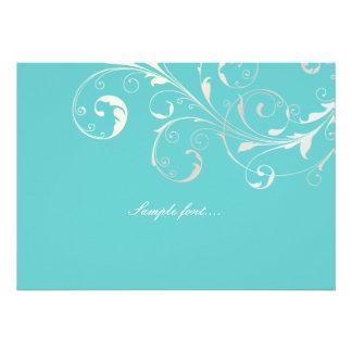 PixDezines filigree swirls diy background color Custom Announcements