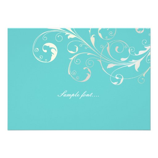 PixDezines filigree swirls/diy background color Custom Announcements