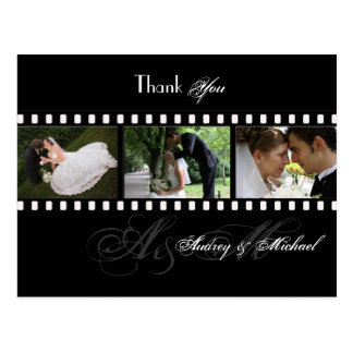 PixDezines FILMSTP WEDDING PHOTOS THANK YOU Postcard