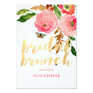PixDezines Floral Bridal Brunch/DIY Background 13 Cm X 18 Cm Invitation Card