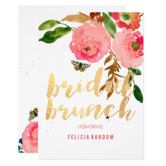 PixDezines Floral Bridal Brunch/DIY Background Card