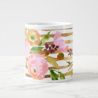 PixDezines floral/watercolor/ranunculus Jumbo Mug