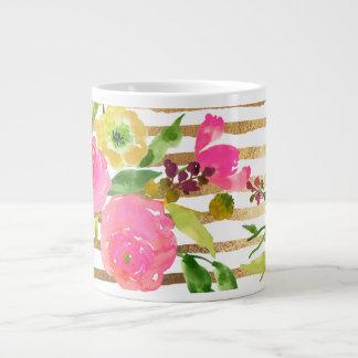 PixDezines floral/watercolor/ranunculus Large Coffee Mug