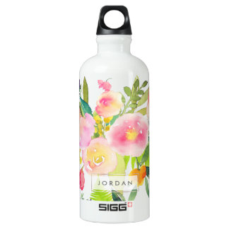 PixDezines Floral Watercolor/Spring Bouquet SIGG Traveller 0.6L Water Bottle