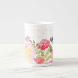 PixDezines Floral/Watercolor/Spring Bouquet Tea Cup