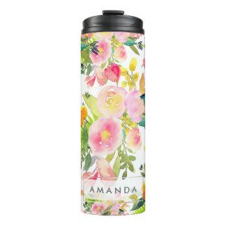PixDezines Floral/Watercolor/Spring Bouquet Thermal Tumbler