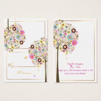 ✡ PixDezines Flowers Tree of Life Place Cards