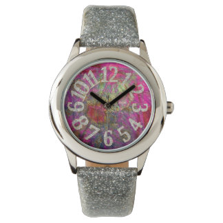 PixDezines funky fractal/blings, blings Wristwatch