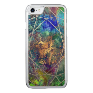 PixDezines Galaxy+Gemstone Facets Carved iPhone 7 Case