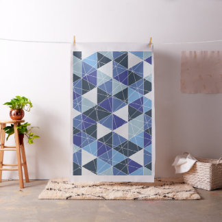 PixDezines geometric/blue hydrangeas Fabric