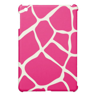 PixDezines Giraffe , Brown+Pink iPad Mini Covers