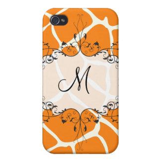 PixDezines Giraffe , Orange iPhone 4/4S Case