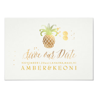 PixDezines Golden Pineapple/save our date Card