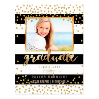 PixDezines Graduation/Faux Gold Confetti/DIY Color Postcard