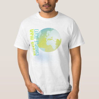 PixDezines Green Man, globe Tees